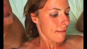 Horny Milf Gets A Double Facial