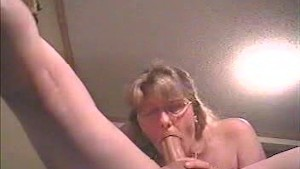 Amateur down deep blowjob