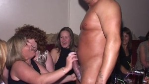Wives and Girlfriends suck male strippers cock