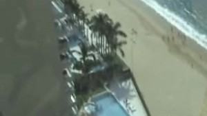 Handjob over the 16th floor balcony