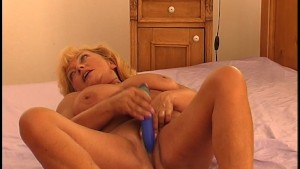 Blonde looks like she is having fun