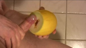 Penetration of a virgin melon