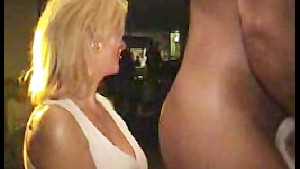Girl suck strippers cock