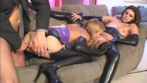Group latex lingerie sex