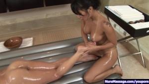 Asa Akira in lesbo nuru massage p.3