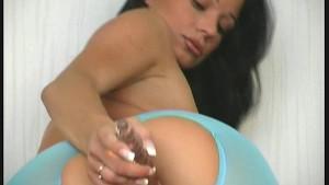 Pornstar in nylon strips flexible