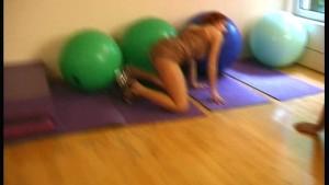 Flexible strip in sport studio