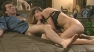 Busty blonde takes it too deep