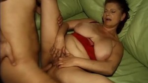 Big tits mature fucked and a facial