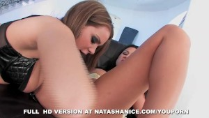Natasha Dominates Asian Girl Into Eating Her Pussy