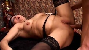 Granny anal fuck and creampie