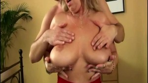 hot MILF with big natural breasts