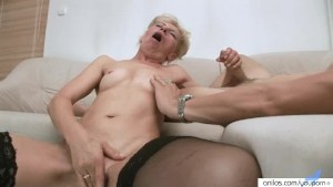 Sexy Granny Strips Before Fucking