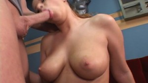 Girl at gym let s guy work out on her