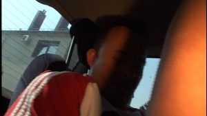 Getting fuck in the back seat while driving around town