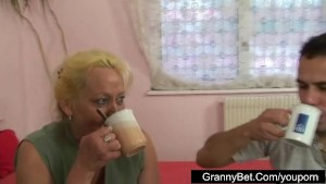 Lonely granny is picked up and fucked by horny guy