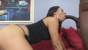 girl sucking on the big one