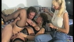 Two seperate scenes of horny girls doing horny guys