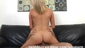 Blonde Amateur Babe Fucking in Sofa