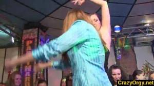 Wild party hardcore orgy at prague nightclub