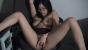 Wet asian big labia pussy lips fun GF
