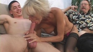 Mature Couple In 3some Sex Game