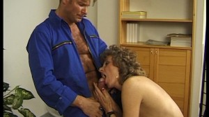 Old German broad seduces him easily
