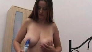 Amateur Czech girl Antonie plays with toys