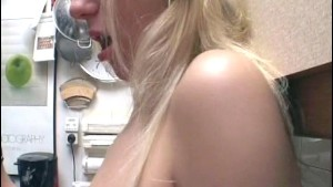 Really hot blonde in the kitchen - Sascha Production