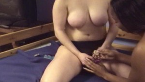 Black girl bounces on strapon in amateur lesbian scene - Mavenhouse