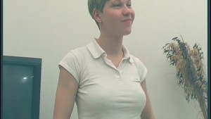 Shorthaired amateur German takes her clothes off - KLBR Produktion