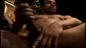 Nice black cock stroked off