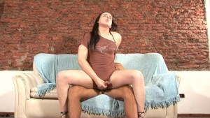 Tranny jerks and gets nailed - Latin-Hot