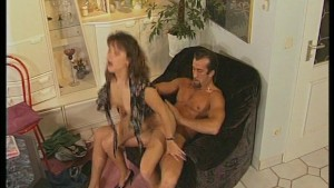 French brunette gets a deep dicking - Telsev