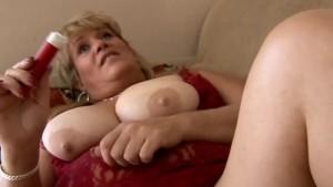 Beautiful blonde BBW has nice big tits