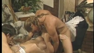Redheaded doctor s assistant gets nailed by two guys - Gentlemens Video