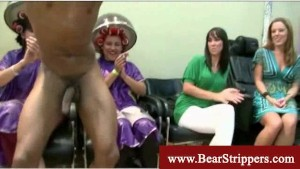 Cfnm ebony with glasses gets a facial