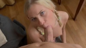 Blonde tutor intensely fucking with her pupil