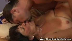 Granny bitch getting some cock