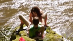 two sexy lebians in the river