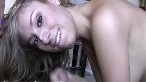 Hot amateur girl gives blowjob 2