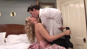 Fancy Dressed Blonde Gets Fucked Like a Whore