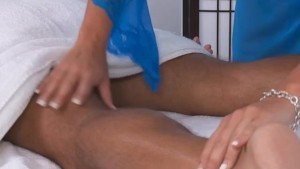 Ashli Ames Massages a Tired Traveler