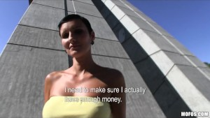 Sexy Czech girl with a perfect body is paid for sex in public