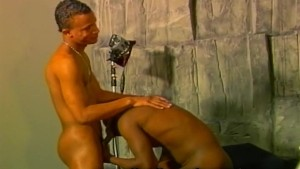 Black Gay Drilling Dildo Pictorial
