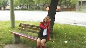 chicks pissing in public