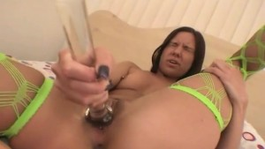 She Enjoys Playing With Her Double-Headed Dildo- Fitzgerald Media