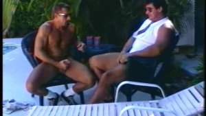 Skinny and big dude pleasure eachother by the pool- Iron Horse
