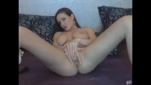 Busty Cam Girl - Fingering Pink Pussy