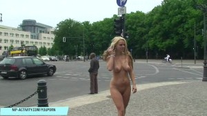 Hot amateur girl anne naked on public streets